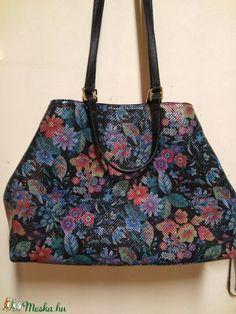 Virág mintás shopper (fgabor1) - Meska.hu Ted Baker, Shoulder Bag, Tote Bag, Bags, Fashion, Handbags, Moda, Fashion Styles, Shoulder Bags