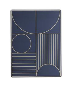 Outline Dinner Placemats - This dinner mat gives your table an elegant and sophisticated look while protecting sensitive surfaces from warm plates, water rings, etc. Perfect for everyday use, as it can easily be wiped clean with a damp cloth. A practical cork backside makes sure the mat does not slip.