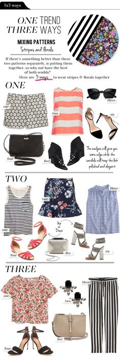 Mixing Patterns: Stripes and Florals. Adorable!