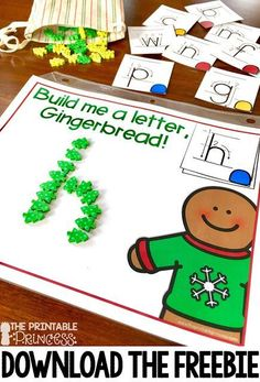 Gingerbread Activities for Kindergarten Books, freebie, and MORE! Your students are going to love the ging. Gingerbread Man Activities, Christmas Activities, Winter Activities, Gingerbread Men, Gingerbread Man Kindergarten, Kindergarten Centers, Kindergarten Activities, Kindergarten Freebies, Preschool Literacy