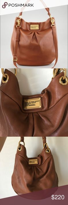 MARC by Marc Jacobs Leather Hobo Amazing condition, nearly new. Saddle colored leather. Gold hardware and two straps for shoulder or cross body carrying. This is the smaller of the two sizes. Marc By Marc Jacobs Bags Hobos