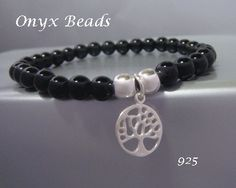 Tree of Life Bracelet with Black Onyx Beads and 925 Silver Tree of Life Pendant by MyTreeOfLifeJewelry is available at www.treeoflifejewellery.com.au, www.etsy.com/shop/MyTreeOfLifeJewelry and www.treeoflifejewellery.com #treeoflifenecklace #treeoflifependant #treeoflife #treeoflifejewelry #jewelry #necklace #pendant
