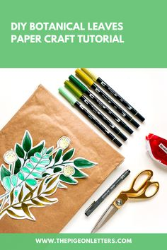 DIY Botanical Leaves Paper Crafts Perfect for the Whole Family Leaf Drawing, Nature Drawing, Botanical Line Drawing, Learning To Embroider, Marker Paper, Cool Diy Projects, Craft Tutorials, Find Art, Easy Crafts