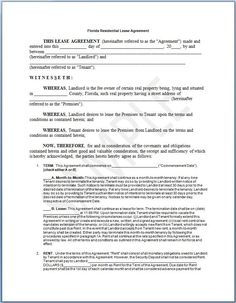 Printable Sample Rental Agreement Sample Form
