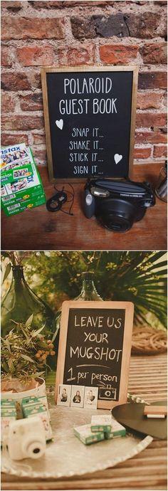 Unique Polaroid Wedding Guestbook Ideas #weddings #weddngideas #weddingdecor #vintageweddings #weddingideas