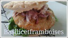 Basilic et framboises: Burger de poulet buffalo & mayonnaise au bleu