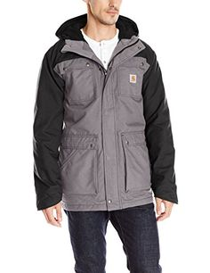 Carhartt Men's Faux Shearling-Lined Quick Duck Parka