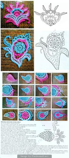 "#Crochet #Stitches  #Tutorial - ""Gorgeous charts for paisley motifs at this site. Click on picture to see more."" comment via #KnittingGuru"
