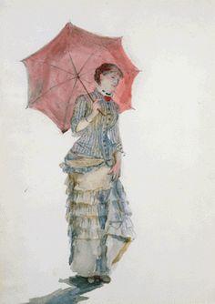 Femme à l'Ombrelle (1880), Marie Bracquemond