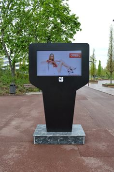 The importance of high brightness displays in outdoor digital signage. MAYA outdoor kiosk by PARTTEAM & OEMKIOSKS (see more at www.oemkiosks.com)
