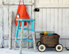 decoupage stool wrapping paper mod podge, decoupage, painted furniture