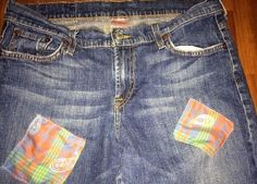 Lucky Brand Classic Boot Cut Jeans Up-Cycled Hand by reconstruKteD