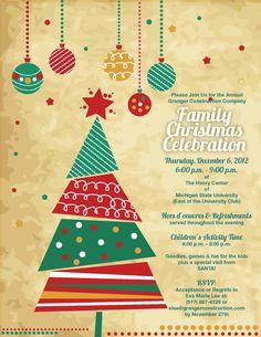 Free Printable Christmas Invitations Template Printables