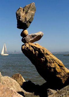 The art of stone balancing Stone Balancing, Stone Cairns, Rock Sculpture, Stone Sculptures, Balanced Rock, Beautiful Rocks, Outdoor Art, Environmental Art, Stone Art