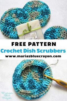 Double Sided Extra Thick Scrubby for Bath & Kitchen 2019 Free easy pattern for crochet dish scrubbies made with cotton yarn. The post Double Sided Extra Thick Scrubby for Bath & Kitchen 2019 appeared first on Yarn ideas. Crochet Dish Scrubber, Scrubbies Crochet Pattern, Scrubby Yarn, Crochet Dishcloths, Crochet Edgings, Crochet Motif, Crochet Shawl, Crochet With Cotton Yarn, Crochet Yarn