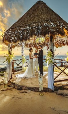 Occidental at Xcaret Destination Riviera Maya, Wedding Types, Lace Wedding, Wedding Dresses, Mexico, Patio, Table Decorations, Outdoor Decor, Lush