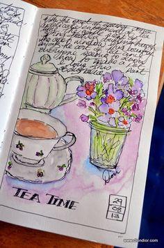 Dion Dior Art & Illustration: Tea Time Sketching