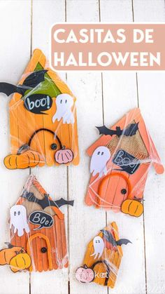 Casa Halloween, Halloween Games, Halloween Crafts, Halloween Decorations, Manualidades Halloween, Printable Numbers, Popsicle Stick Crafts, Diy Party, Easy Crafts