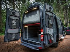 Portland-based Outside Van specialize in converting the Mercedes Sprinter into a.,Portland-based Outside Van specialize in converting the Mercedes Sprinter into a. Camping Car Mercedes, Camping Car Van, Zelt Camping, Camping Gear, Mercedes Camper Van, 4x4 Camper Van, Camping Outfits, Van Conversion Interior, Camper Van Conversion Diy