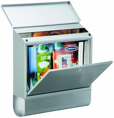 Rottner A4 Villa Special Stainless Steel Large Letter Box Set with Newspaper Holder: Amazon.co.uk: DIY & Tools