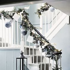 Great for holiday houses! Frosted Pinecone & Fir Garland | The White Company