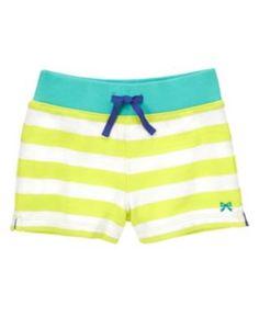 NWT 12-18 Months Gymboree CAPE COD CUTIE Yellow Polka Dot Ruffle Hem Knit Shorts