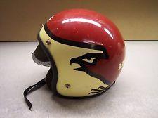 VINTAGE RARE RED WHITE & BLACK HONDA EAGLE BIRD MOTIF MOTORCYCLE HELMET