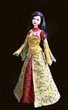 Inara Serra from Firefly, ep. Message. The dress is from home dyed and hand embroidered silks. Doll: repainted DOTW  Princess of Cambodia