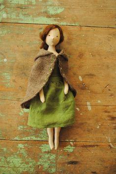 Cloth art doll by Willowynn