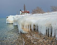 "cicle Beach"" Point Betsie Lighthouse, Crystallia, Michigan"