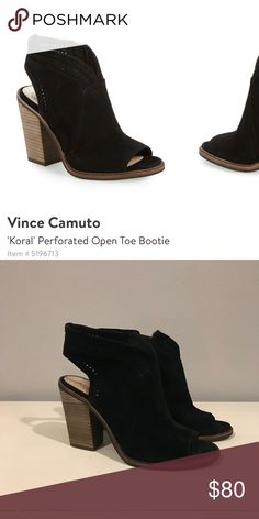 "47d33ecac7dc Vince Camuto ""Koral"" Perforated Open Toe Bootie Only worn twice. Great  condition."