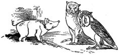 Edward Lear ~ The Owl and the Pussycat, original illustration