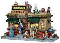 Lemax 45673 Zombie Eatery Spooky Town Lighted Porcelain Building Village Halloween Decor S O Scale. #Halloween #Figures #Sculptures #Figurines #Fantasy #gosstudio #Gift .★ We recommend Gift Shop: http://www.zazzle.com/vintagestylestudio ★