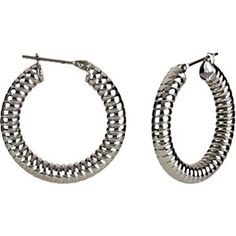 Amalfi Immersion Plated Stainless Steel Shrimp Hoop Earrings * Be sure to check out this awesome product.