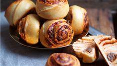 Pizzasnurrer – Ida Gran-Jansen Garlic, Muffin, Pizza, Vegetables, Breakfast, Recipes, Food, Breakfast Cafe, Muffins