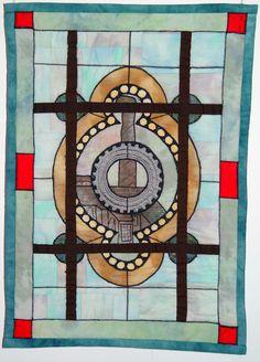 Stained glass window quilt by Bozena Wojtaszek (Poland).  The Textile Cuisine: December 2013