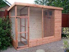 10' x 4' All  Weather Cat Chipmunk Bird Aviary Plus Porch
