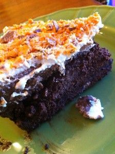 Chocolate Overload Butterfingers Ice-cream Brownie