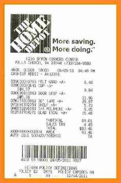 Home Depot Receipt Generator : depot, receipt, generator, Depot, Ideas, Budget, Template,, Receipt, Invoice, Template