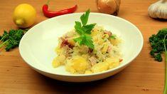 Fotografie k receptu Sedlácká bída - TopRecepty.cz Risotto, Potato Salad, Mashed Potatoes, Rice, Ethnic Recipes, Whipped Potatoes, Smash Potatoes, Laughter, Jim Rice