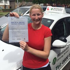 Well done to Marketa from ‪#‎Streatham‬ who passed her test in ‪#‎Morden‬.