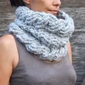 Very winter cable cowl neckwarmer - via @Craftsy