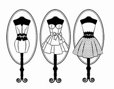 Wire Dress Form Mannequin Coloring Pages
