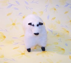 Charmin the Sheep  Felt and Clay Soft Sculpture by AnnetteBailey