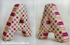 Как сшить мягкие буквы, мастер-класс / How to sew fabric letters, tutorial | Домик маленького Цукиня