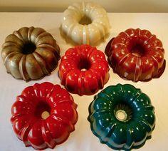 Vintage Collection Heritage Rust Orange Red Green Ivory Nordic Ware Bundt Pans | eBay