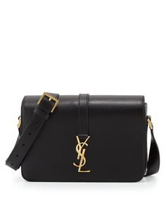 8fe9bf6995 Saint Laurent Monogram Medium Calf Crossbody Bag Black