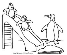 Penguins  A Drawing of Rockhopper Penguin Coloring Page  RSVP