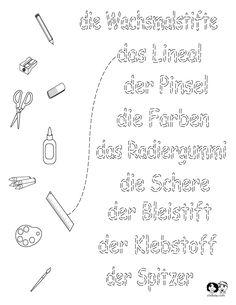 Worksheets German - School