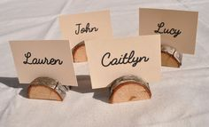 20 small rustic place card holders cedar by Stringybarksupplies